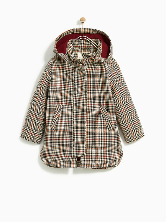 Checked Trench Coat  View All Coats Girl by Zara