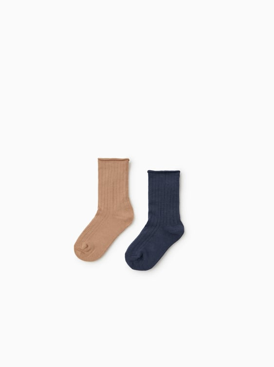 Two  Pack Of Ribbed Socks View All Girl Accessories Kids by Zara