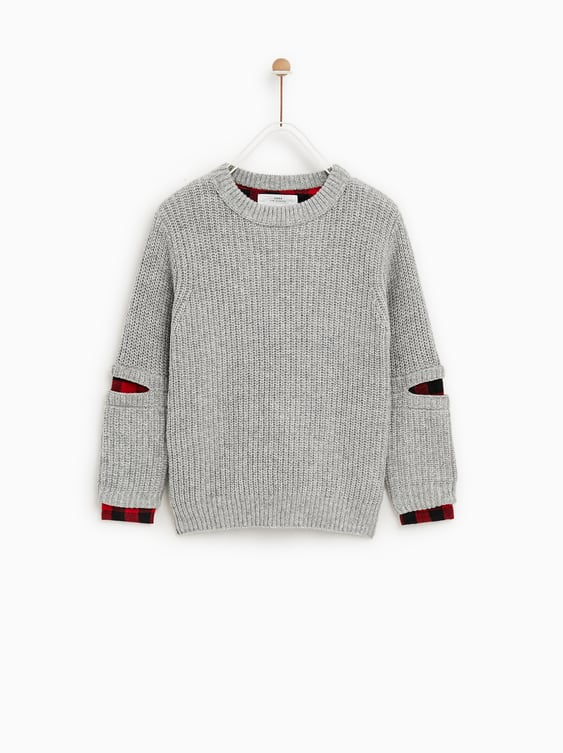 Sweater With Contrasting Details  Sweaters And Cardigansboy by Zara