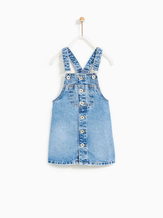 Button  Up Denim Overallsdresses And Jumpsuits Girl by Zara