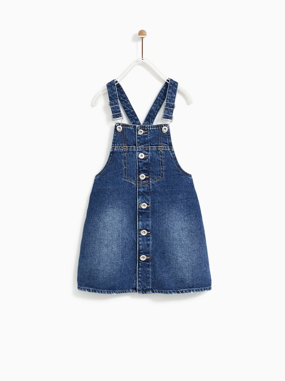 Button  Up Denim Pinafore Dressdresses And Jumpsuits Girl by Zara
