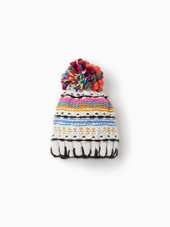 Embellished Knit Beanie  View All Girl Accessories Kids by Zara