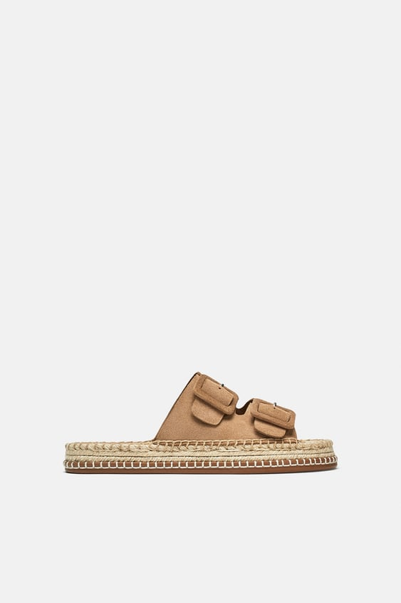 Soft Leathers Buckle Slides  View All Woman Shoes by Zara