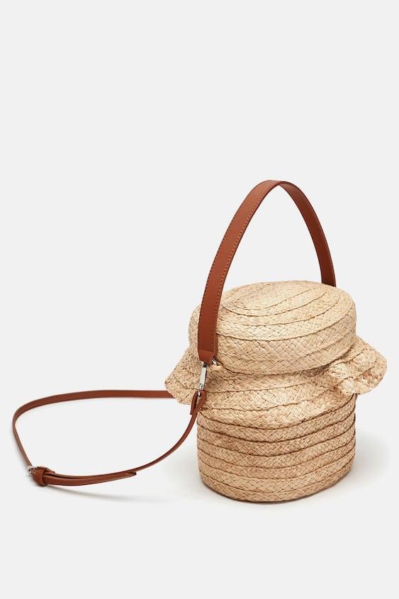 Ruffled Raffia Basket  View All Bags Woman by Zara