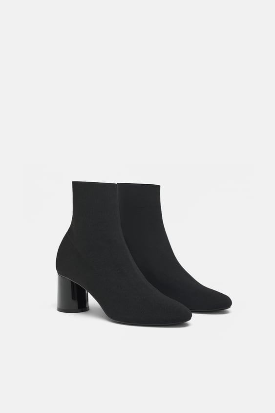 Botine Din ŢesĂturĂ Cu Toc  Cizme Şi Botine Pantofi Femei by Zara