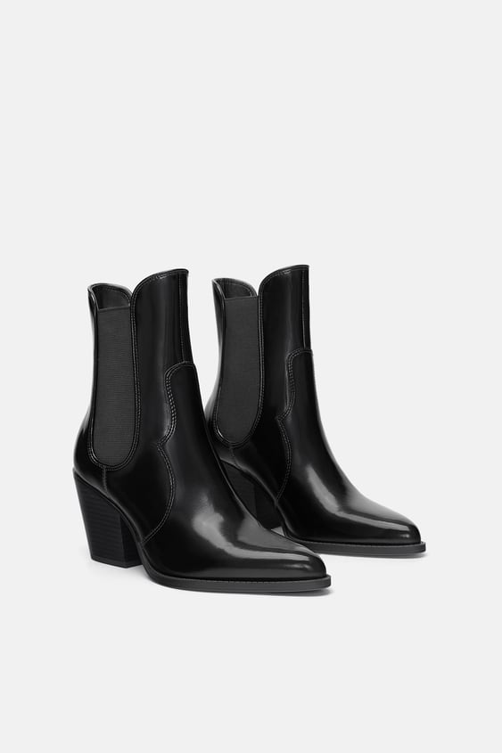 Mid  Heel Cowboy Ankle Boots Ankle Boots Woman Shoes by Zara