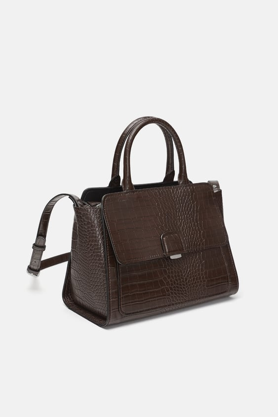 Midi City Bag With Flap  View All Bags Woman by Zara