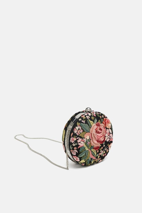 Round Floral MinaudiÈre  View All Bags Woman by Zara