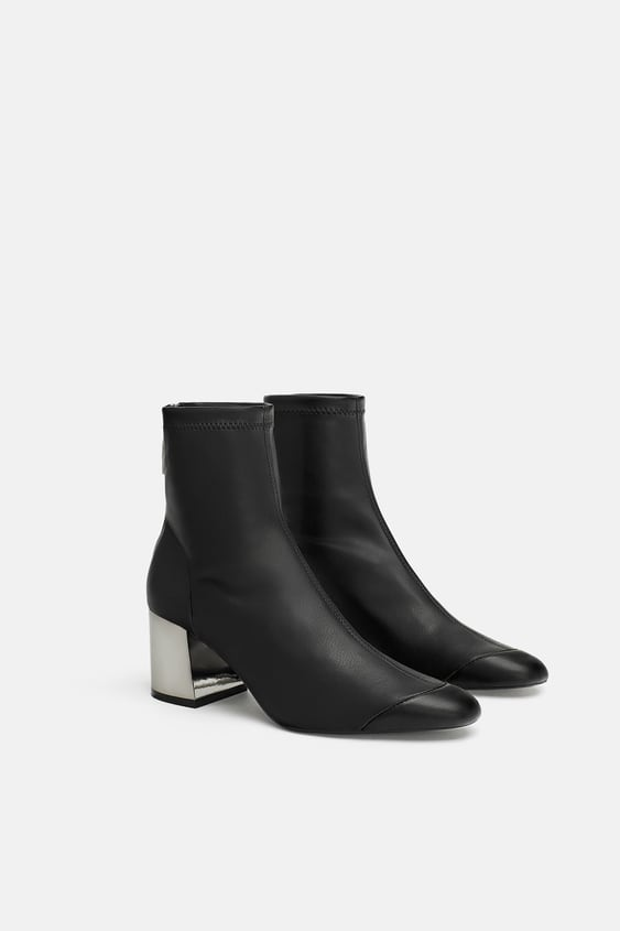 Shoptagr High Heel Stretch Ankle Boots View All Shoes Woman By Zara