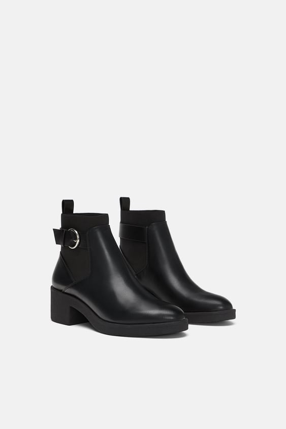 Elasticated Flat Ankle Boots  New Intrf by Zara