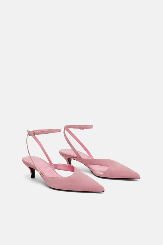 Kitten Heeled Leather Shoes  View All Shoes Woman by Zara
