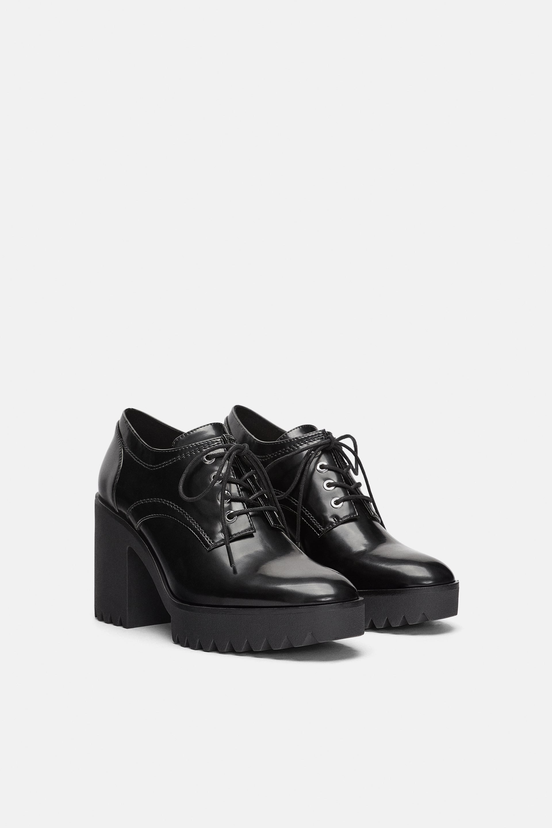 Heeled Oxfords With Track Sole  Highheels Woman Shoes by Zara
