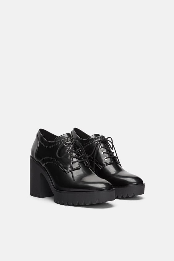 Track Sole High  Heel Derby Shoesshoes Trf by Zara