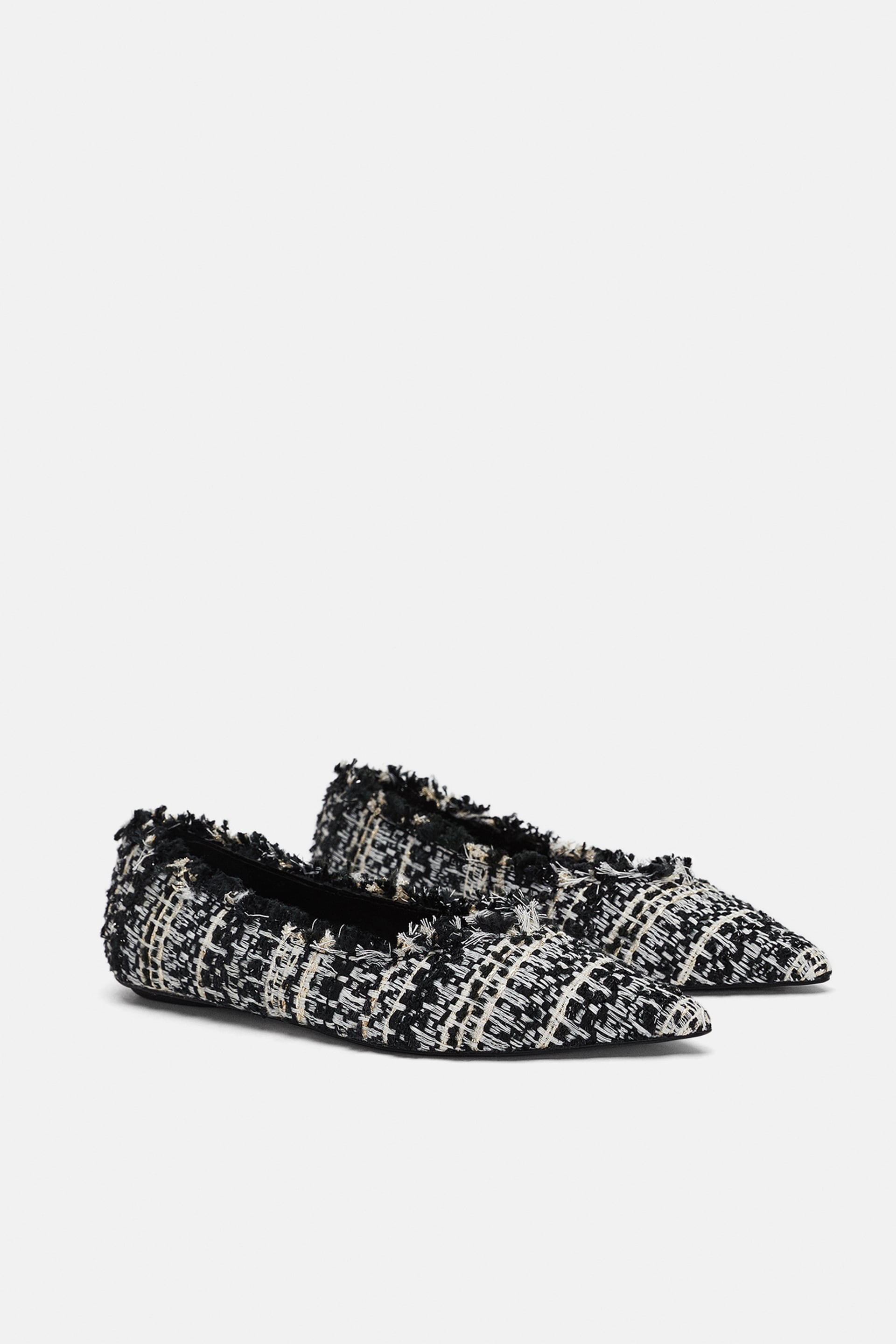 Tweed Ballet Flats  View All Woman Shoes by Zara