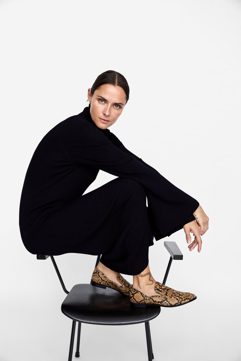 Mokassins Mit Print  Flache Schuhe Schuhe Damen by Zara