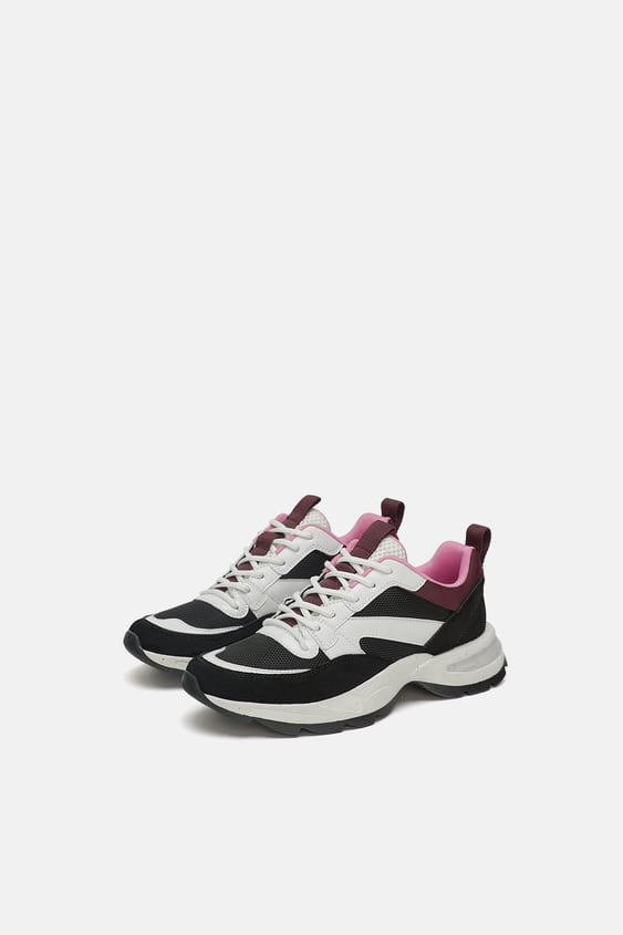Sneakers With Glitter Trim  New In Shoes Woman by Zara