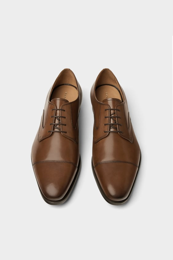 Classic Smart Leather Shoes  Leather Shoes Man by Zara