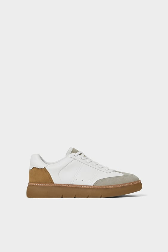 Classic Thick  Soled Sneakers Sneakers Shoes Man by Zara