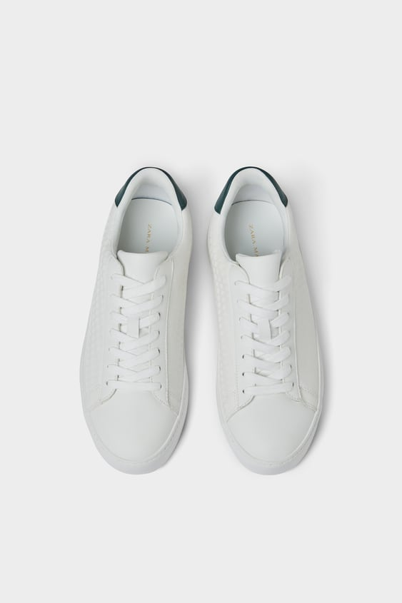 Tennis Blanches GravÉes  Baskets Chaussures Homme by Zara