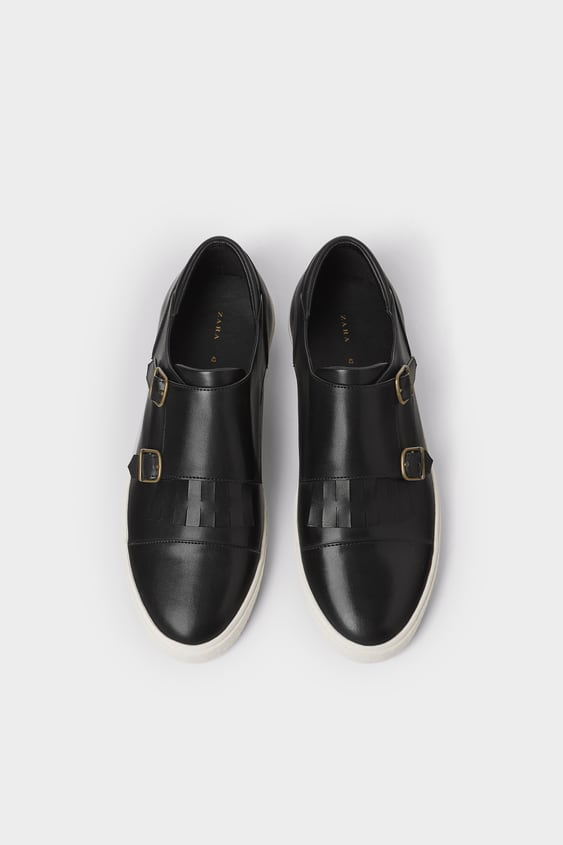 Black Double Monk Strap Sneakers  New In Man Shoes by Zara