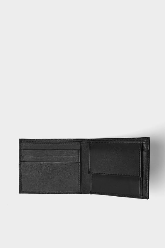 Leather Wallet  Wallets And Accessories Bags Man by Zara
