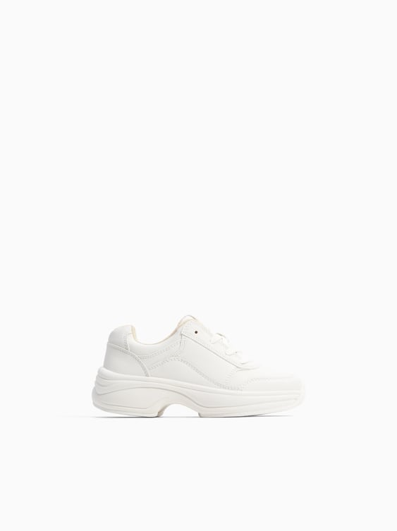 White Sneakers  View All Shoes Girl by Zara