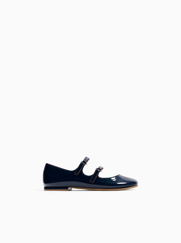 timeless design e79a5 056b7 Zara PATENT FINISH BALLET FLATS