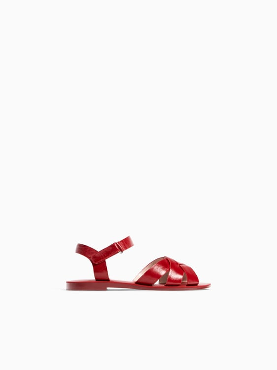 Solid Color Leather Sandals  Girlkids Shoes by Zara