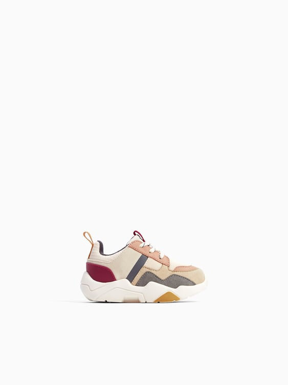 Contrasting Sneakers  Shoesbaby Girl by Zara