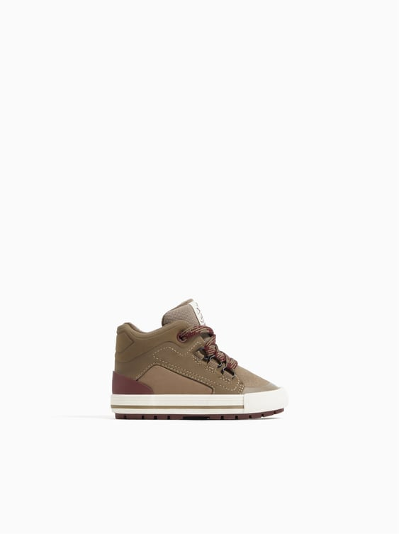 Laced Hiking Boot Sneakers  View All Baby Boy Kids Shoes by Zara