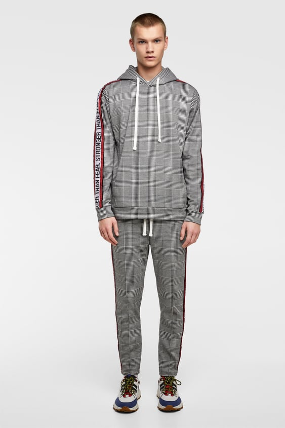 Plaid Jogging Suit With Stripes  Tracksuitman by Zara