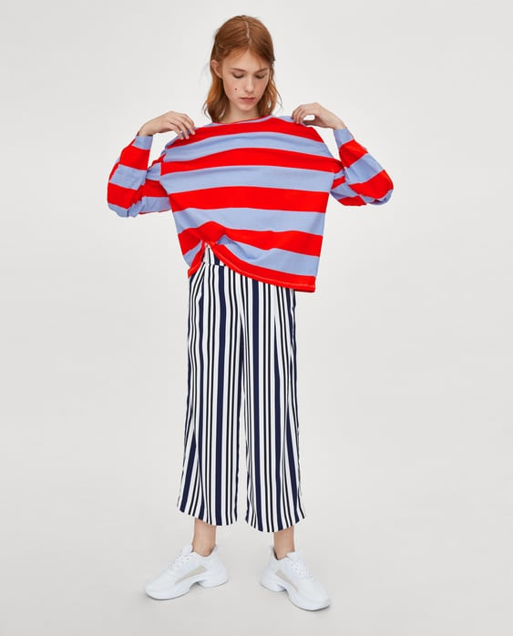 b806b7e9 Striped Knotted T Shirt Collection Let The Good Times Roll Trf by Zara