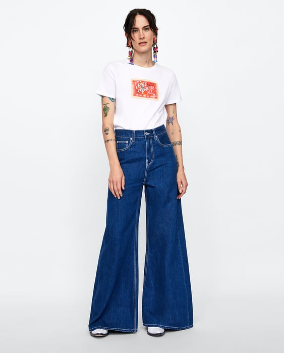Rubberised Printed T  Shirt View All T Shirts Woman by Zara