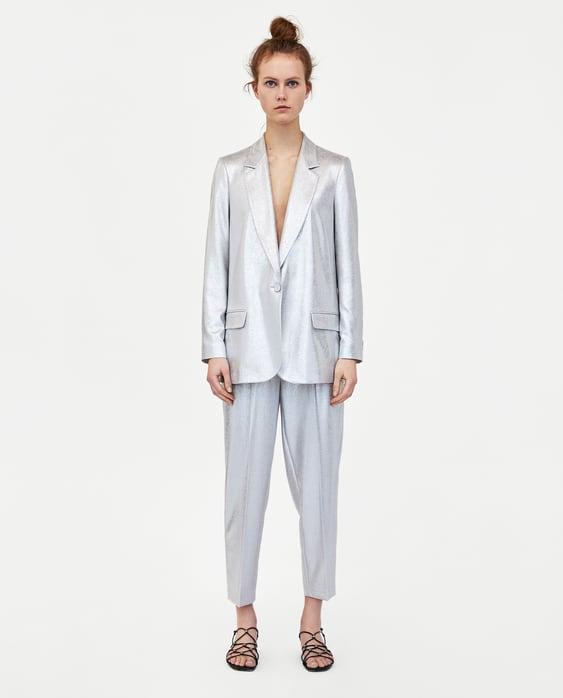 Metallic Blazer  New Inwoman by Zara