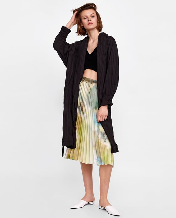 Printed Pleated Skirt  New Inwoman by Zara