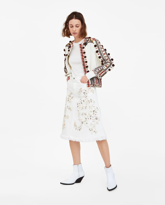 The Western Embroidery Skirt  New Inwoman by Zara