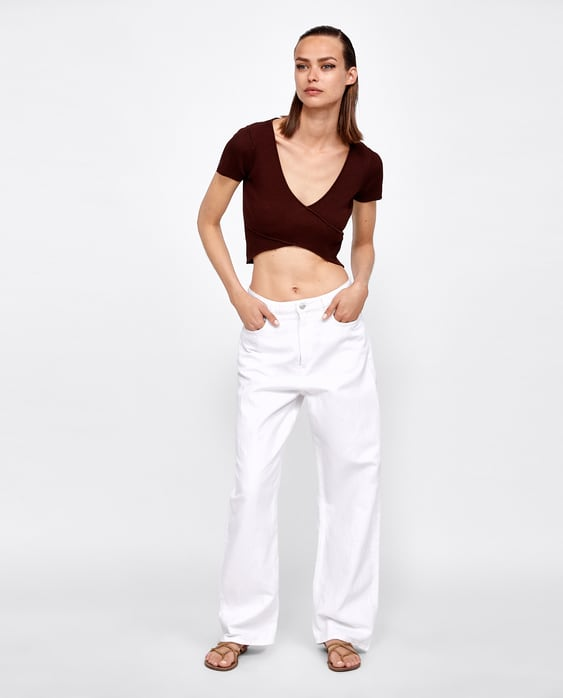 ribbed-wrap-top--shirts-i-topssale-woman by zara