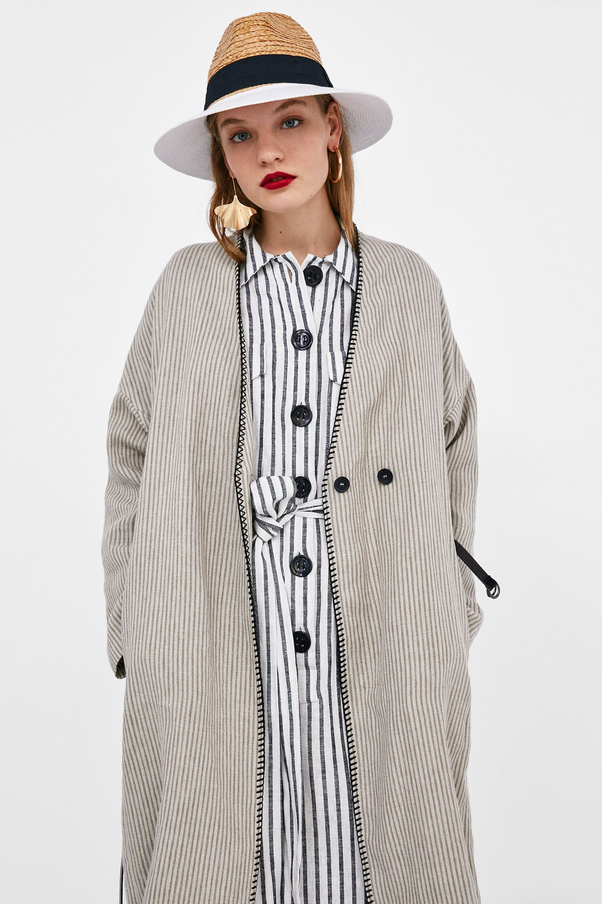 a9457305 Zara LINEN COAT WITH CONTRASTING TOPSTITCHING at £19.99   love the ...
