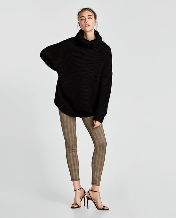 CHECKED LEGGINGS WITH SIDE STRIPES
