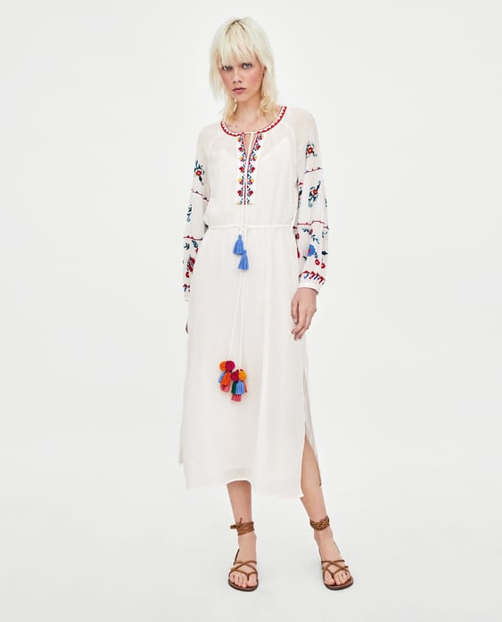Shoptagr Colorful Embroidered Tunic Dress View All Dresses Sale