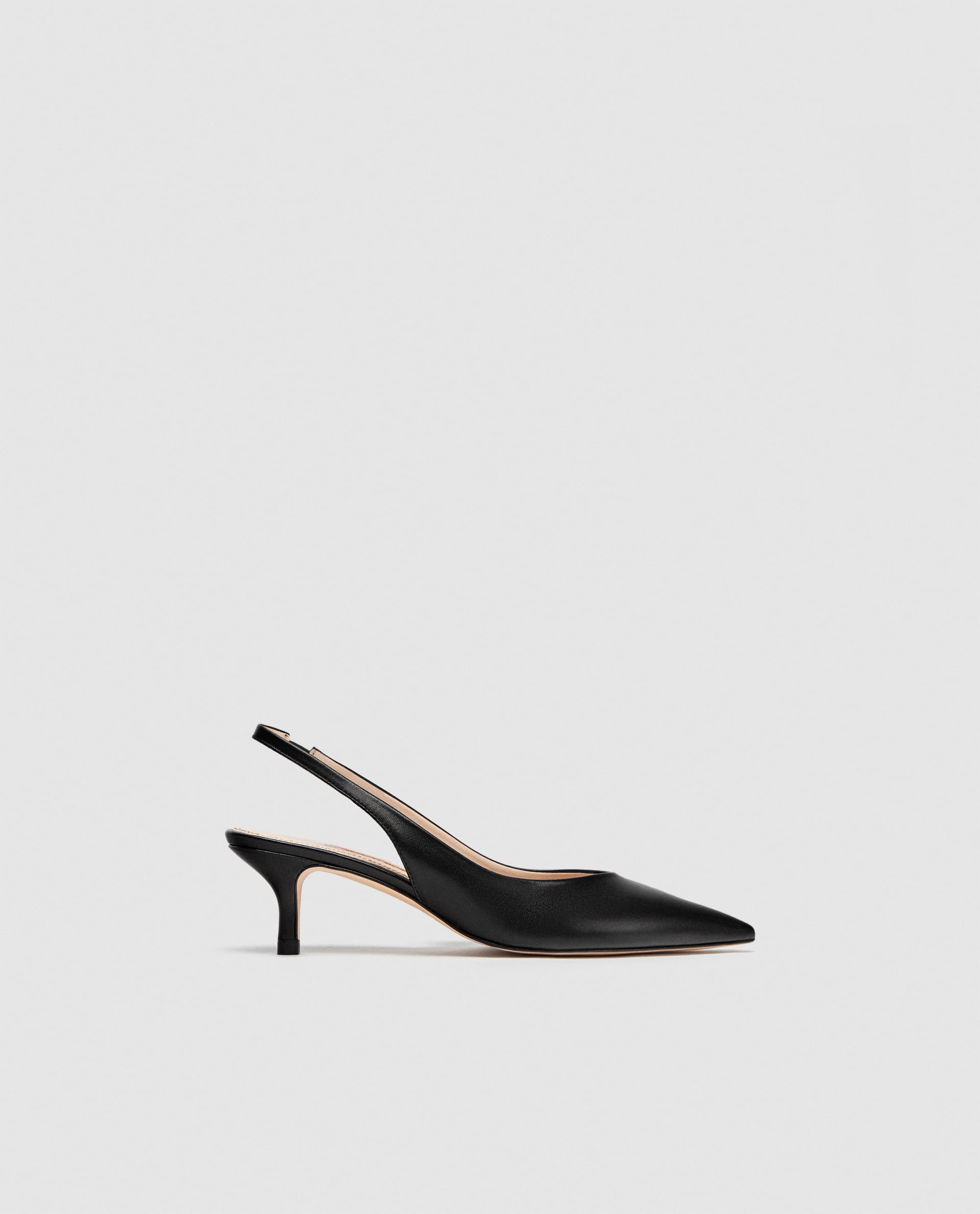 Leather Backless High Heel Shoes  View All Shoes Woman by Zara