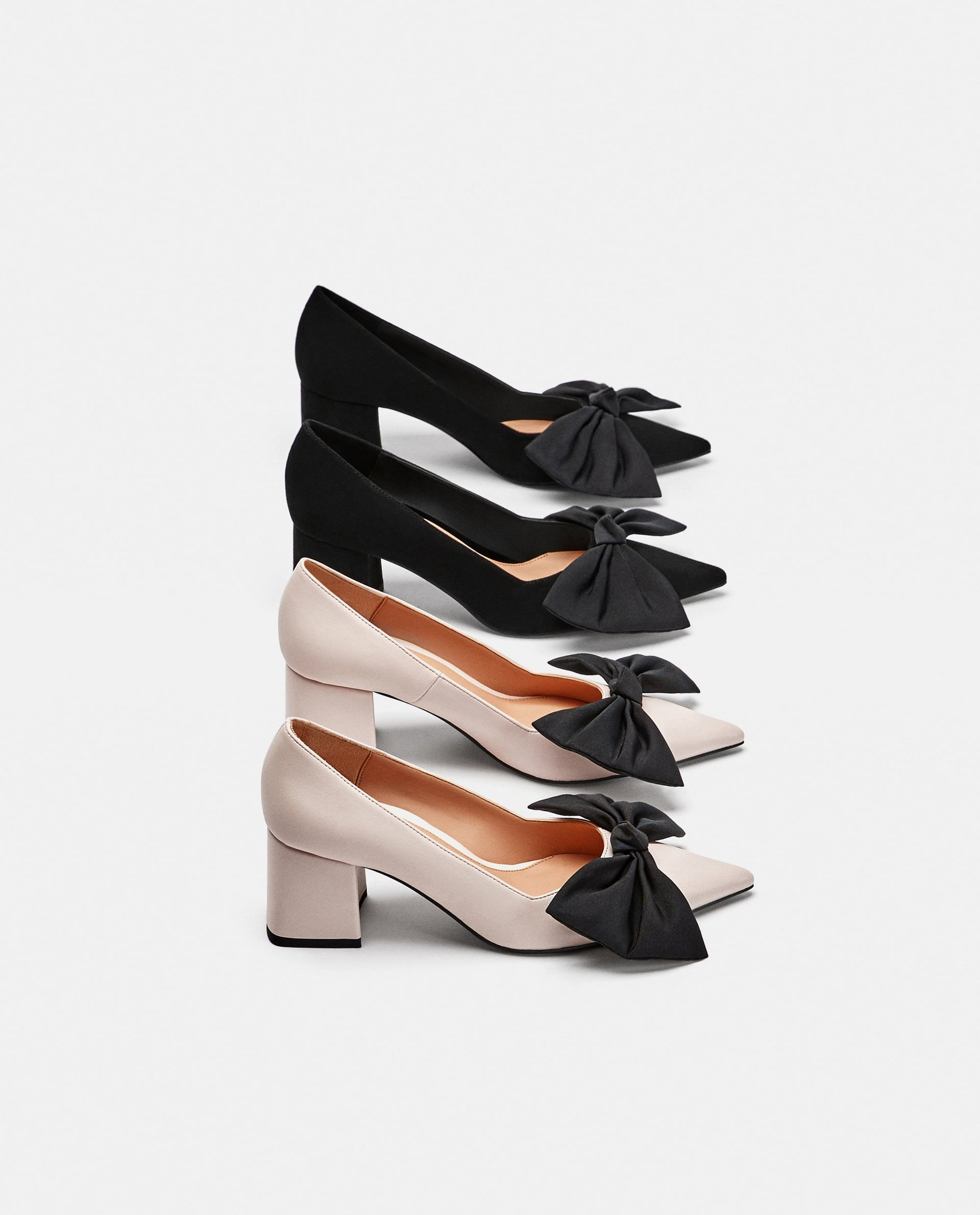 8110f704524 Zara MEDIUM HEEL COURT SHOES WITH BOW at £15.99
