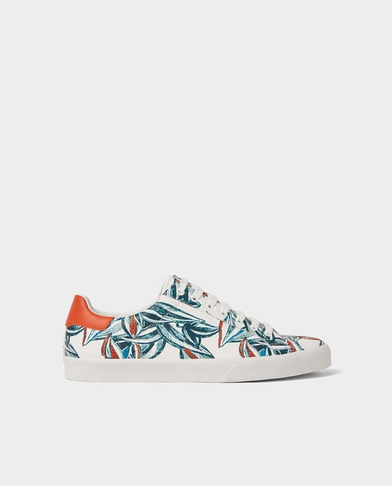 Plimsolls With Floral Embroidery  New Inman by Zara