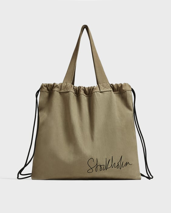 Covertible Fabric Tote Bag  View All Bags Man by Zara