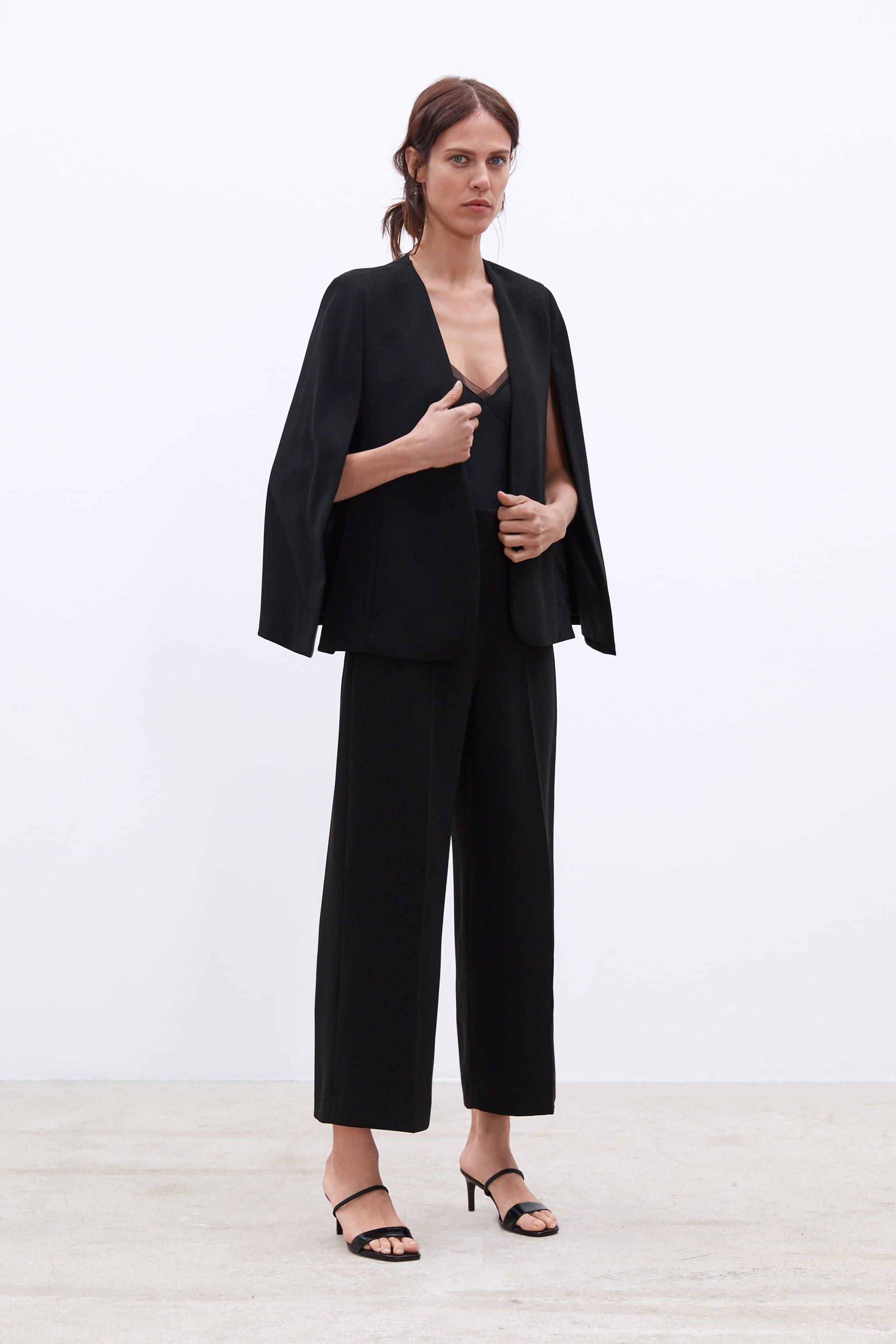 자라 Zara HIGH-WAISTED PANTS,Black