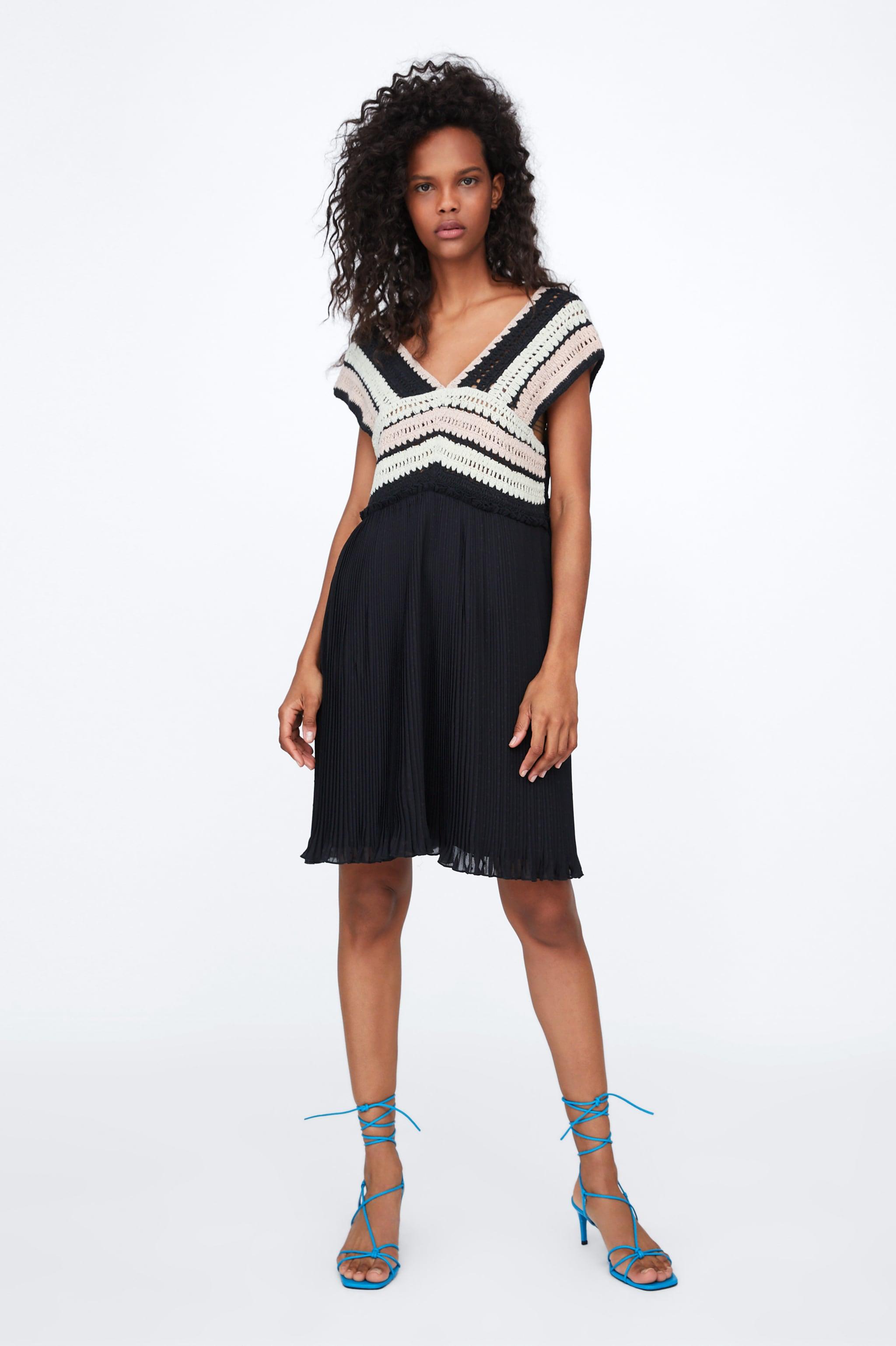 f61c40c9bd30 Zara DRESS WITH CROCHET TRIM