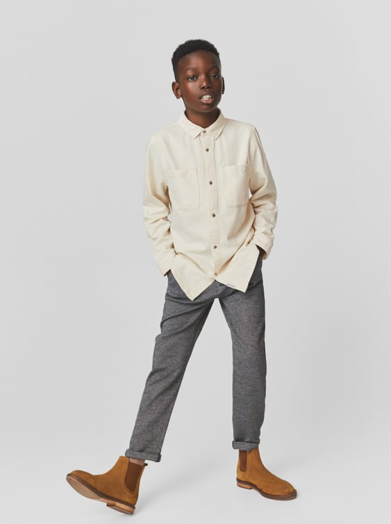 CHINOS WITH RIBBED WAISTBAND
