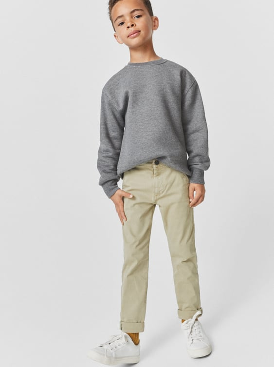 BASIC SLIM FIT CHINO TROUSERS