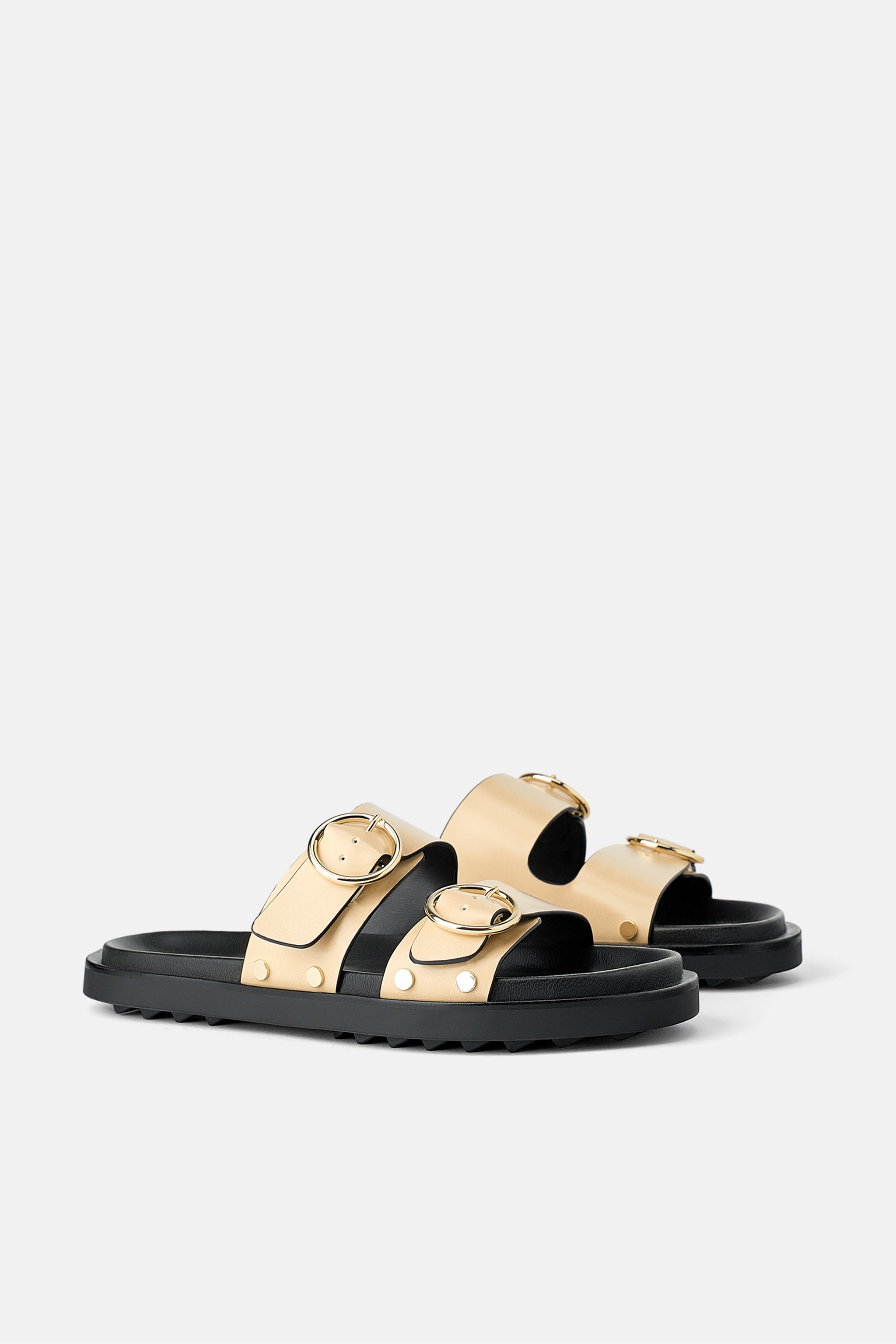 Zara FLAT SANDALS WITH RINGS
