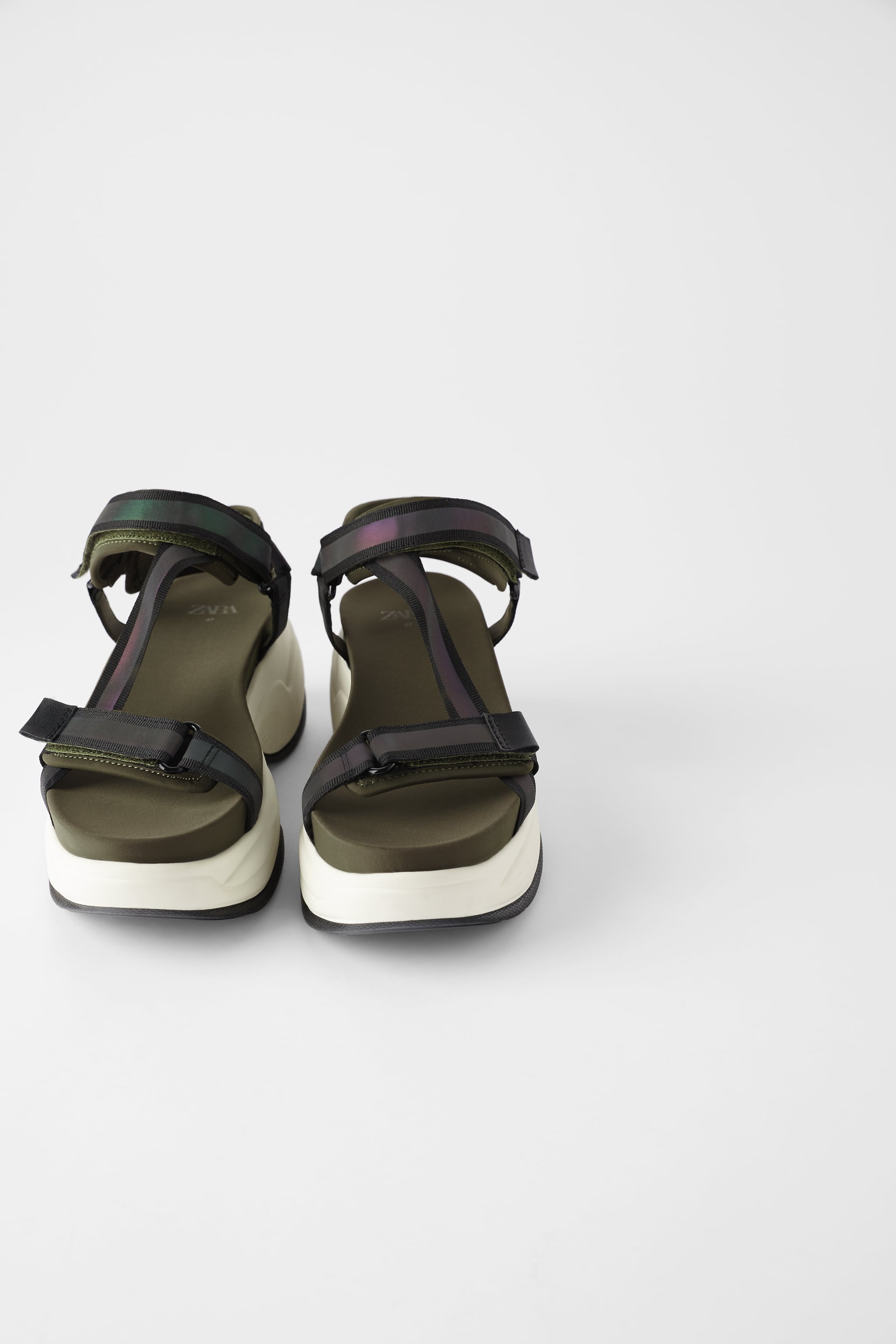 Zara THICK-SOLED ATHLETIC SANDALS